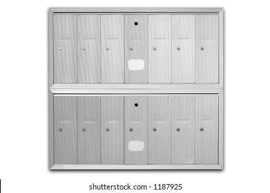 Letterboxes - main letterbox in an apartment building - including clipping path
