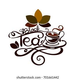 Lettering - Black Tea - good for label, logo, menu decoration.