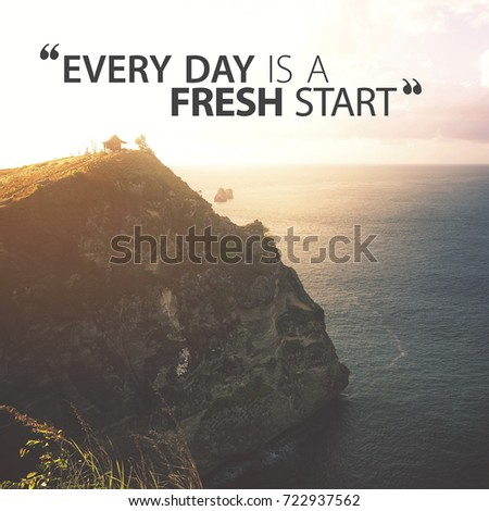 Lettering Quotes Motivation Life Happiness Morning Stock Photo Edit