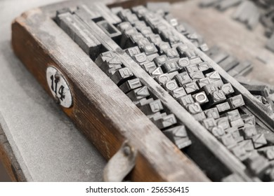 Letterpress type characters of letter - typography