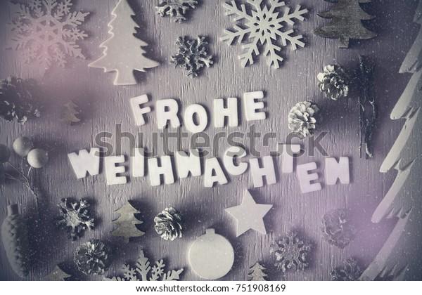 Weihnachten Bilder Bearbeiten.Letters Building German Word Frohe Weihnachten Stockfoto Jetzt