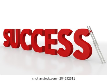 letters forming the word: success