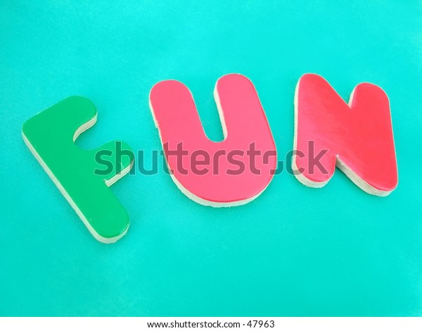 letters fun on green