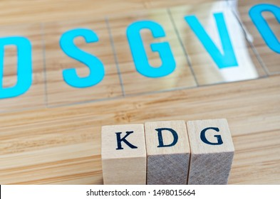 Letters with in german KDG Katholisches Datenschutzgesetz and DSGVO in english Catholic data protection law and GDPR in the background