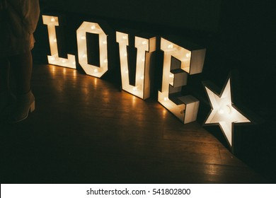 letters love with light