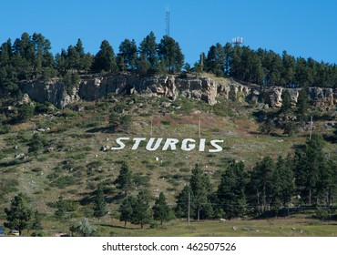 Letters on the hill at Sturgis, South Dakota