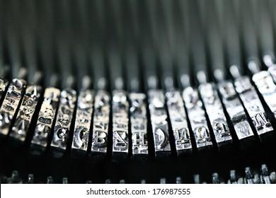 letters on a vintage typewriter