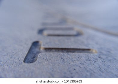 letters on wood