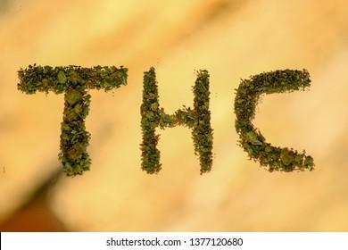 Letters thc written with marijuana. Name molecule of cannabis sativa