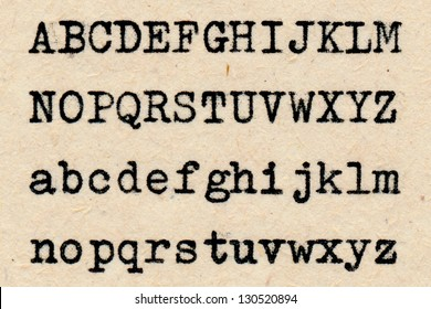 Letters written with a typewriter on an aged paper.