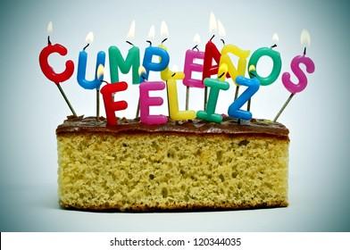 Happy Birthday Feliz Cumpleaños Bon Anniversaire ~ Happy birthday spanish images stock photos & vectors shutterstock