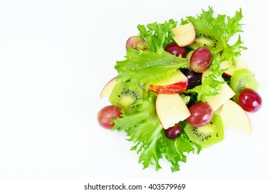 Lettuce, Apple and Grapes Salad Studio Photo
