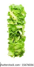 i lettuce letter on a white background