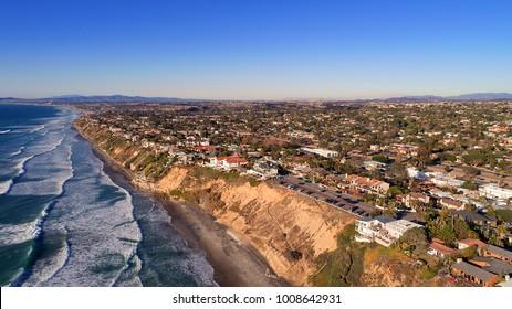 Leucadia beach to Oceanside coastline views