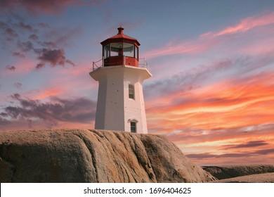 Leuchtturm an der Küste von nova scotia