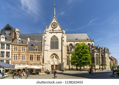 LEUVEN,BELGIUM - MAY 17,2018 - View at the church of Saint Peter in Leuven. Leuven is located about 25 kilometres east of Brussels.