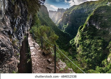 Levada trail in Madeira, Portugal