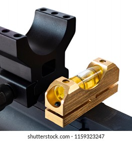 Level being checked on an AR-15 before a scope is mounted