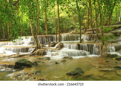 Level six of Waterfall (Huai Mae Kamin) in Kanchanaburi,Thailand