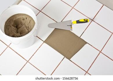 level tool on cement floor
