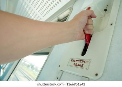 Lever of an emergency brake