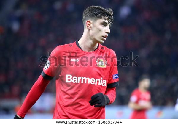 Leverkusen, Germany. 11th December 2019. Uefa Champions League 2019-20 Group D.  Kai Havertz of Bayer  Leverkusen.