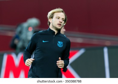 Leverkusen, Germany- December 9, 2015: Ivan Rakitic during the UEFA Champions League game between Bayer 04 Leverkusen vs Barcelona at BayArena stadium