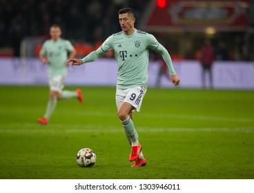 Leverkusen, Germany, February 02, 2019, Bundesliga, matchday 20, Bayer 04 Leverkusen vs FC Bayern Muenchen: Robert Lewandowski (FCB) in action.