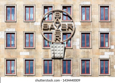 Leverkusen, Germany - July 22, 2017: Bayer building and office. Bayer is a German multinational chemical and pharmaceutical company founded in Barmen, Germany