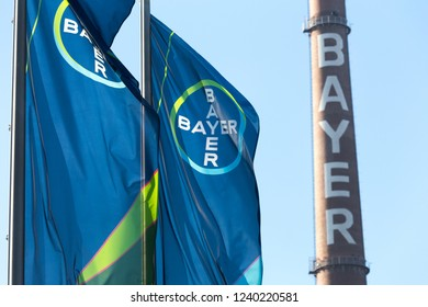 leverkusen, North Rhine-Westphalia/germany - 23 11 18: bayer headquarters in leverkusen germany
