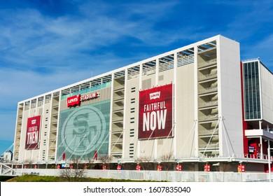 Levi's Stadium exterior home of the San Francisco 49ers of the National Football League - Santa Clara, California, USA - January, 2020