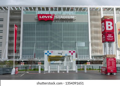 Levi's Stadium home of the San Francisco 49ers exterior. Entrance to SAP Suite Tower - Santa Clara, California, USA - March 27, 2019