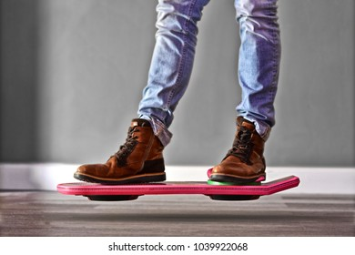 Levitating on hover board
