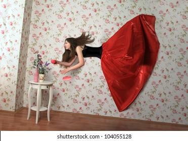 levitation girl