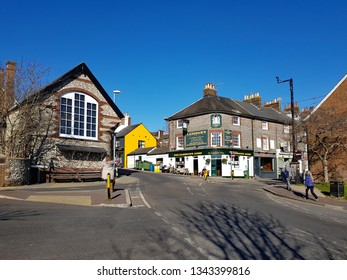 Lewes,East Sussex/UK 02-25-19 A beautiful winter's day with a clear blue sky. The Lansdown Arms public house on the corner of Lansdown Place, Lewes.