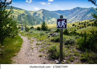 Lewis and Clark Caverns, MT, USA - June 29, 2019: The Eastside Mountain Trail