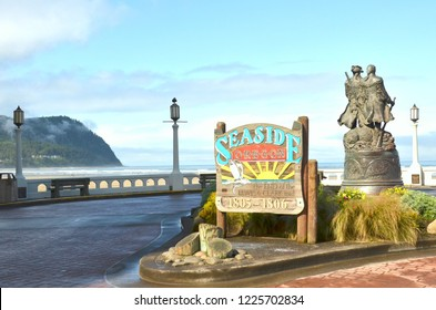 Lewis & Clark End of Trail Monument Seaside Oregon