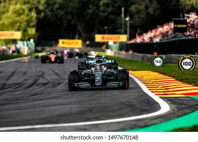 Lewis Hamilton (UK) in the Mercedes-AMG F1 W10 EQ Power+ 2019 F1 car during the 2019 Formula 1 Johnnie Walker Belgian Grand Prix (29/08/2019 - 01/01/2019) at Circuit de Spa-Francorchamps