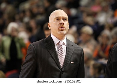 LEWISBURG, PA. - NOVEMBER 28: Penn State's Coach Pat Chambers walks the sideliness during a basketball game against Bucknell  on November 28, 2014  Sojka Pavilion in Lewisburg, PA.