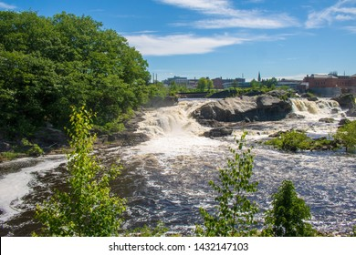 Lewiston Falls in the Androscoggin River