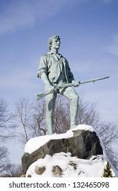 LEXINGTON - JANUARY 15:  Lexington Minuteman representing John Parker on January 15, 2011 in Lexington, MA
