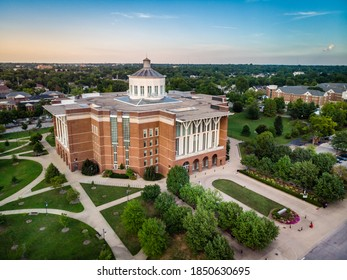 Lexington, Kentucky, August 9, 2020: Aerial  view of the William T. Young Library at the University of Kentucky in Lexington, Kentucky