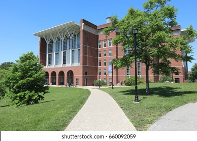LEXINGTON, KENTUCKY - MAY 13, 2017:  The University of Kentucky, located in Lexington is home to the contemporary William T.Young Library which was built in 1998.