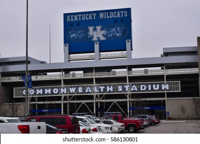 LEXINGTON, KENTUCKY, U.S.A., FEBRUARY 2017.  University of Kentucky Wildcats  Football entrance at Commonwealth Stadium in Lexington, Kentucky, on February 2017.  Editorial use only.
