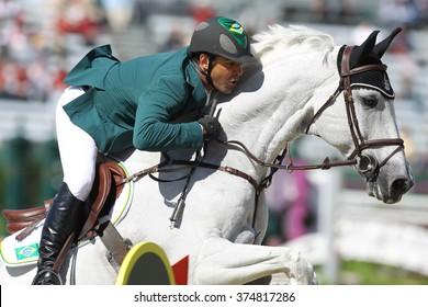 Lexington, Kentucky, USA, Oct, 10, 2010, World Equestrian Games, BRAZIL'S  Alvaro Miranda Ad Ashleigh riding Drossel Dan
