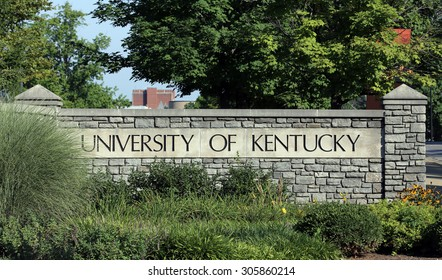 LEXINGTON, KY   AUGUST 9: An entrance to The University of Kentucky located in Lexington, Kentucky on August 9th, 2015. The University of Kentucky is a public research university established in 1865.