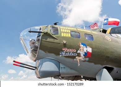LEXINGTON,  KY,  USA  - JULY 20: Boeing B-17 bomber on display at the Aviation Museum of Kentucky in Lexington on July 20, 2013. The Boeing B-17 Flying Fortress is a four-engine heavy bomber aircraft.