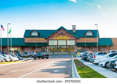 LEXINGTON, KY USA - MARCH 16, 2016.  Cabelas opens its Lexington store on March 16, 2016. Cabelas retails hunting, fishing and outdoor gear.