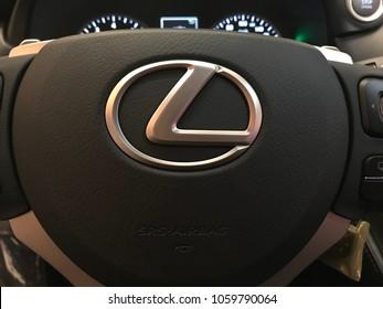 Lexus car for ladies ,, in showroom jeddah April 2018