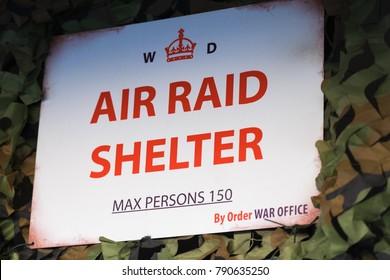 Leyburn Yorkshire England 1.6.18 World War Two Air Raid Shelter Sign